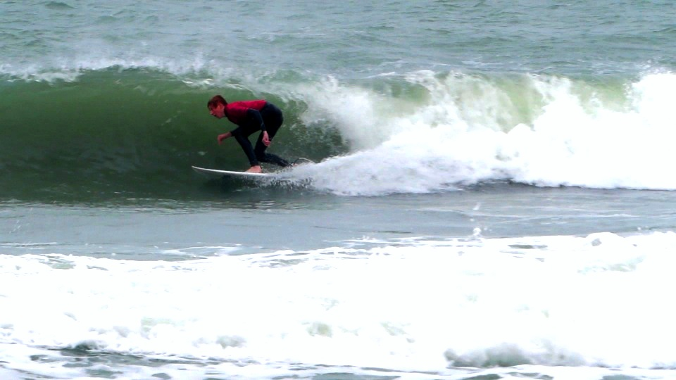 Brady getting barreled in Cocoa Beach, FL ASF Surf Competition