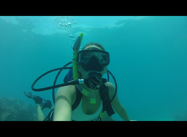Britton diving at American Shoals...Beautiful Reef with no one there but us!