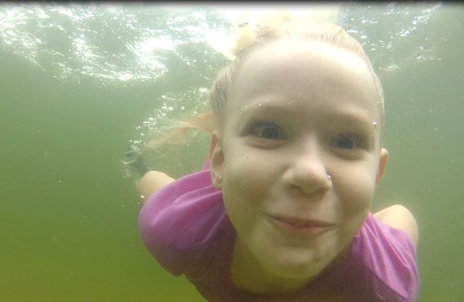 Bryan's youngest, Ava the little free diver!