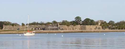 Home sweet Home - I've never been so happy to see the fort in St. Augustine (Castillo de San Marcos)
